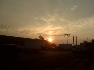 the beginning of another day at work.............