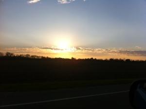 sundown on a monday night