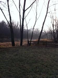 a foggy, hazy morning